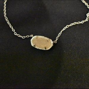 Kendra Scott Cream Stone Necklace